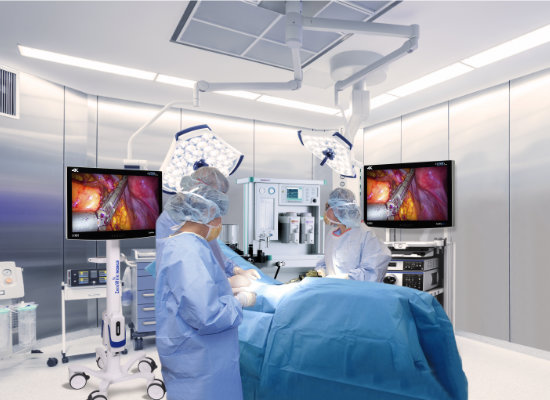 surgical display, display, visualization system, medical grade, UHD, 4K, HD, Ultra High Definition, High Definition, 4k resolution, monitor, LCD, Endoscopy, Laparoscopy, Video Surgery, wireless, wireless imaging, 60 GHz, cordless, cordless mobility, ZeroWire, ZeroeWire Mobile, ZeroWire Embedded, ZeroeWire
